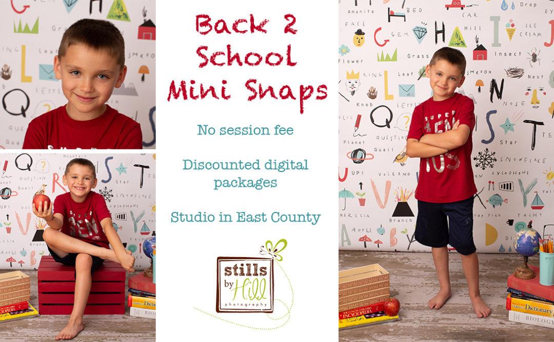 2019 Back to School Mini Snaps™ – San Diego Child Photographer